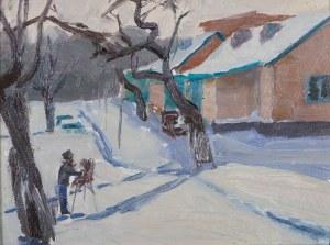 Jerzy Karszniewicz (1878–1945), Malarz w zimowym plenerze
