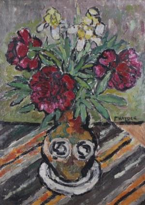 Franciszek Hayder (1905–1990), Piwonie i irysy w wazonie*