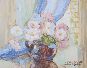 Irena Nowakowska-Acedańska (1909–1983), Kwiaty w okrągłym wazonie*
