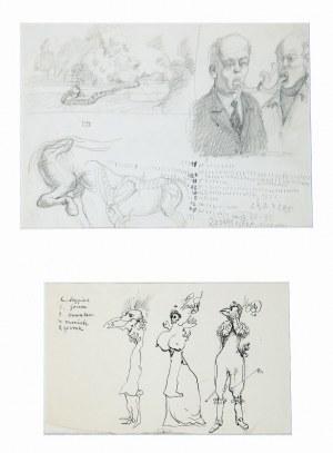 Franciszek Starowieyski (1930–2009), Dwa rysunki, 1995*