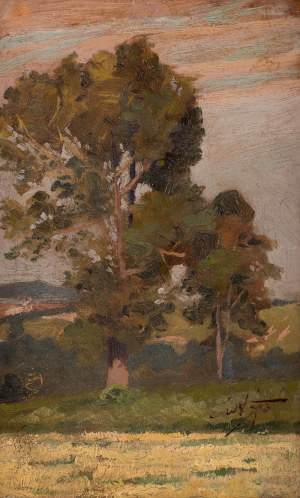 Władysław Gościmski (1836-1896) - Pejzaż z drzewami