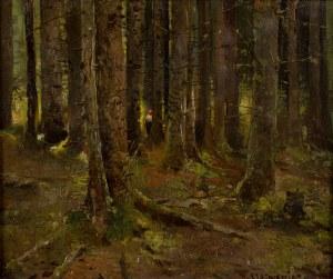 Piotr Stachiewicz (1858 Nowosiółki/Podole - 1938 Kraków), W lesie - Balladyna, k.XIX w.?