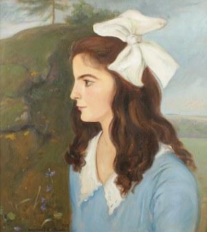Wlastimil Hofman (1881 Praga - 1970 Szklarska Poręba), Portret dziewczynki, 1935 r.