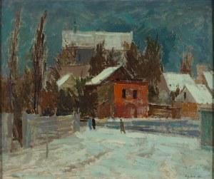 Eugeniusz Arct (1899 Odessa – 1974 Warszawa), Fara w Kazimierzu zimą, 1960 r.