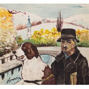 Jan Horeszko (I poł. XX w.) - Nikifor ze swoim psem