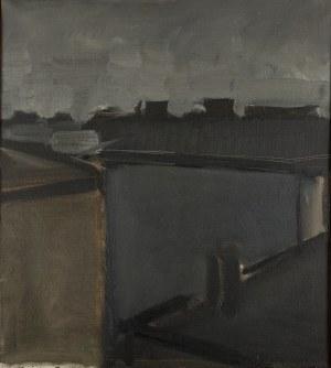 Jacek Sienicki (1928 Warszawa - 2000 tamże), Dachy starych domów, 1973 r.