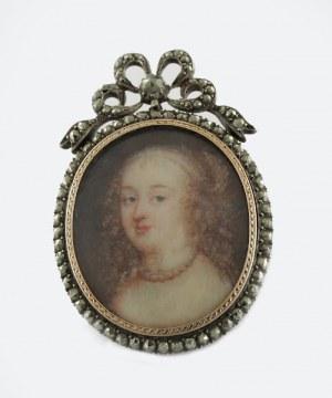 Brosza z portretem królowej