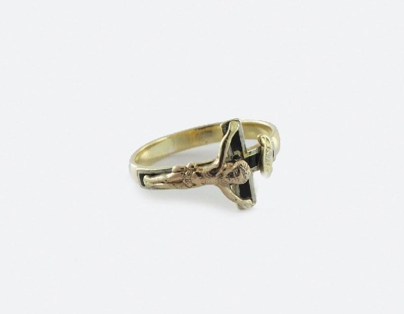 Pierścionek złoty biedermeier