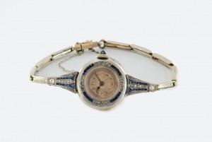 Zegarek złoty art-deco