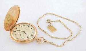 Zegarek kieszonkowy męski WACŁAW BABCZYŃSKI, z dewizką