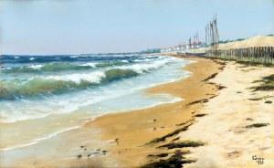 Soter Jaxa - Małachowski (1867 - 1952), Nad polskim morzem, 1933