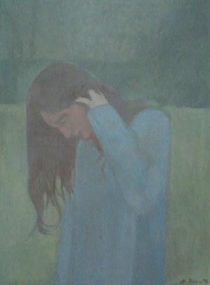 Maria Prokop, 1979, Dziewczyna na zielonym tle, 2018