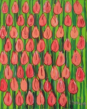 Edward Dwurnik, 1943 - 2018, Pomarańczowe tulipany, 2016