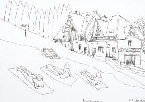 Edward DWURNIK (1943-2018), Karpacz, 1998