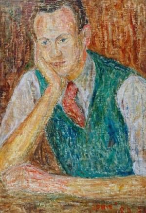 Roman ARTYMOWSKI (1919-1993), Portret mężczyzny - Autoportret (?), 1945