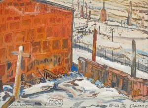 Edward DWURNIK (1943-2018), Ściana, z cyklu: Podróże autostopem, 1983