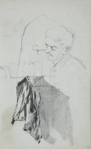 Stanisław Kaczor Batowski (1866-1945), Popiersie młodego mężczyzny oraz studium światłocieniowe wiszącego surduta
