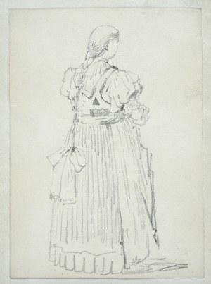 Tadeusz Rybkowski (1848-1926), Postać dziewczyny z warkoczem