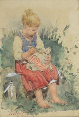 Antoni Kozakiewicz (1841-1929), Dziewczynka z lalką