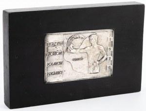 PLAKIETA, I IGRZYSKA SPORTOWE POLAKÓW Z ZAGRANICY, Warszawa, 1934