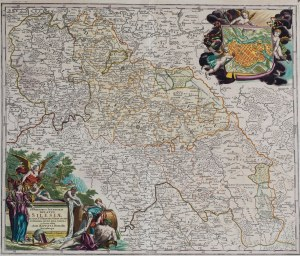 MAPA ŚLĄSKA, Johann Baptist Homann, Norymberga, 1710