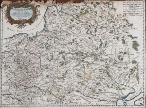 MAPA POLSKI, Giovanni Giacomo de Rossi, Rzym, 1678