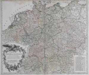 MAPA CESARSTWA, Robert de Vaugondy, 1756