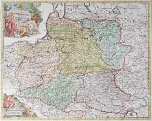 MAPA POLSKI, Jan Barend Elwe, Amsterdam, 1792