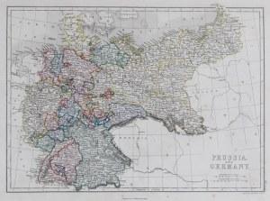 MAPA PRUS I NIEMIEC, 1867-1870