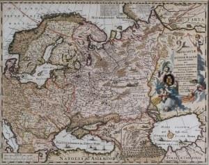 MAPA ROSJI, Nicolai Visscher, Amsterdam, ok. 1690