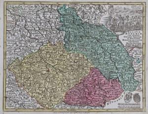 MAPA CZECH, Georg Matthäus Seutter, Tobias Conrad Lotter, Augsburg, 1760