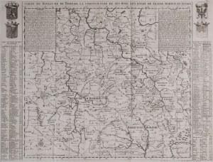 MAPA, KRÓLESTWO CZECH, Henri Abraham Chatelain, Amsterdam, 1719