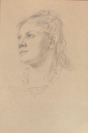Teodor AXENTOWICZ (1859-1938), Głowa kobiety