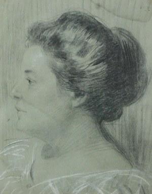 Teodor AXENTOWICZ (1859-1938), Portret z profilu