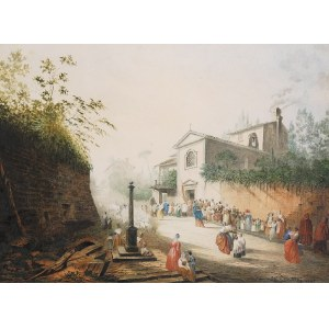 Wandalin STRZAŁECKI (1855-1917), Procesja, 1882