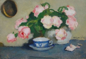 Alfons KARPIŃSKI (1875-1961), Róże, 1934