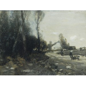 Roman KOCHANOWSKI (1857-1945), Pejzaż ze sztafażem