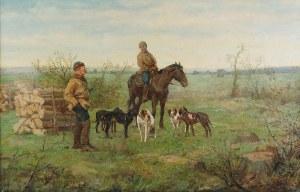 Antoni PIOTROWSKI (1853-1924), Scena przed polowaniem