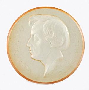 Sylwester MAŃCZAK (1878-1973) - model, Plakieta z profilem Fryderyka Chopina