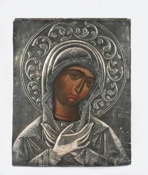 Ikona - Matka Boska Miłosierna, w okładzie
