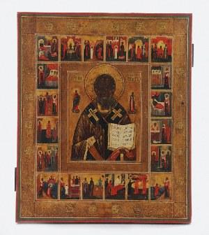 Ikona - Żywot św. Mikołaja Cudotwórcy