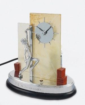 Zegar art déco, podświetlany, z figurą tancerki