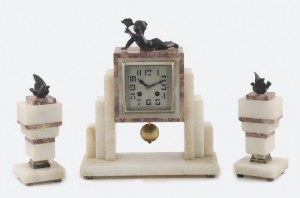 Zegar gabinetowy, art-deco