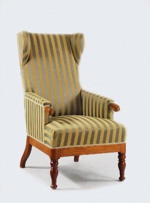 Fotel typu uszak w stylu biedermeierowskim
