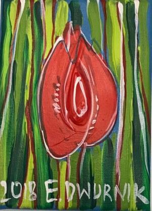 Edward Dwurnik (1943-2018), Tulipan czerwony, 2018