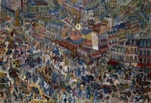 Edward Dwurnik, Paryż, 1968, 30 x 40 cm