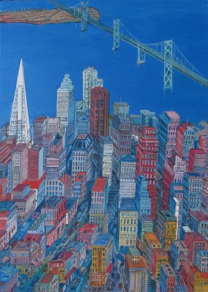 Edward Dwurnik, San Francisco, 2007, 70 x 50 cm (duży format)