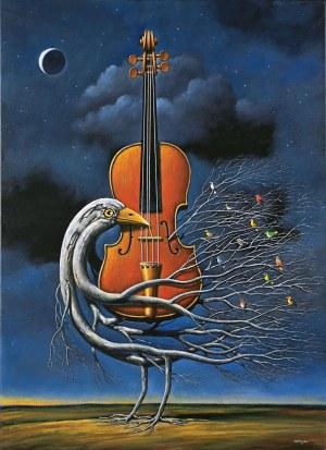 Rafał Olbiński (ur. 1943),Nokturn na skrzypcach