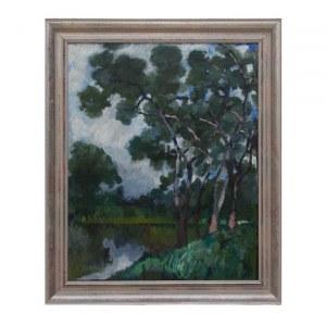 Kazimierz Sichulski (1879 Lwów - 1942 Lwów), Drzewa nad jeziorem, 1921