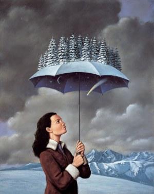 Rafał Olbiński (ur. 1943) Zimowy parasol